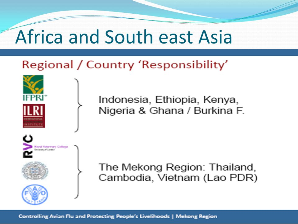 Africa and South east Asia