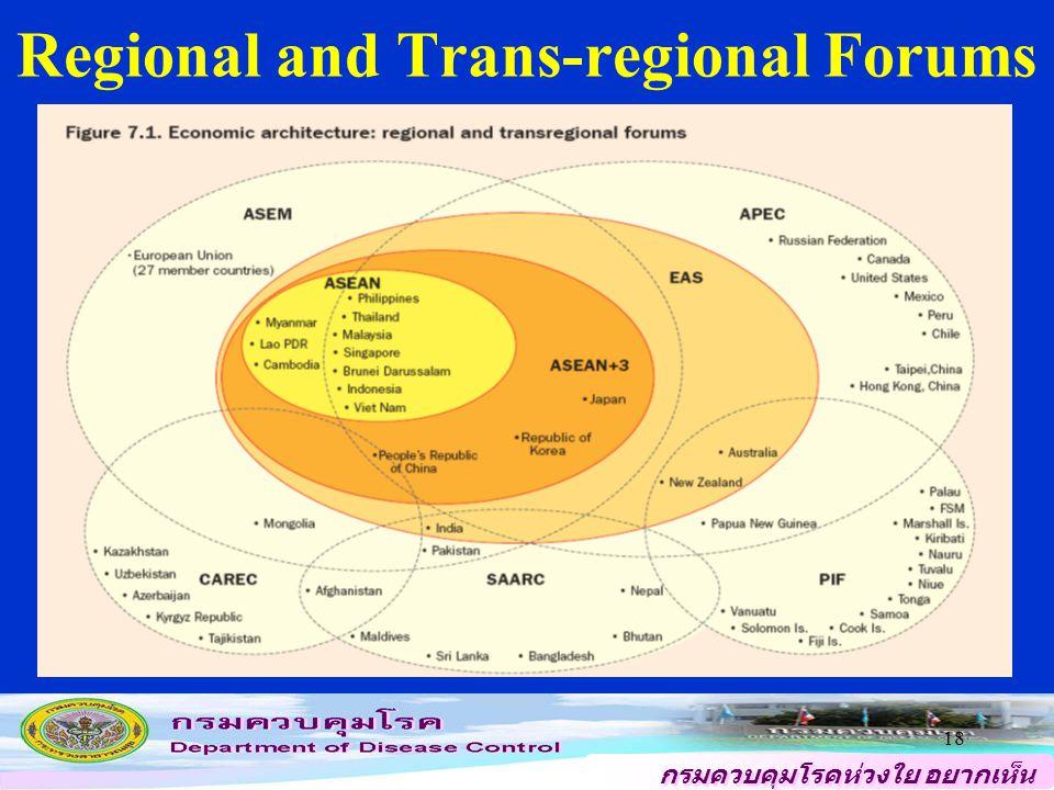 กรมควบคุมโรคห่วงใย อยากเห็น คนไทยสุขภาพดี 18 Regional and Trans-regional Forums