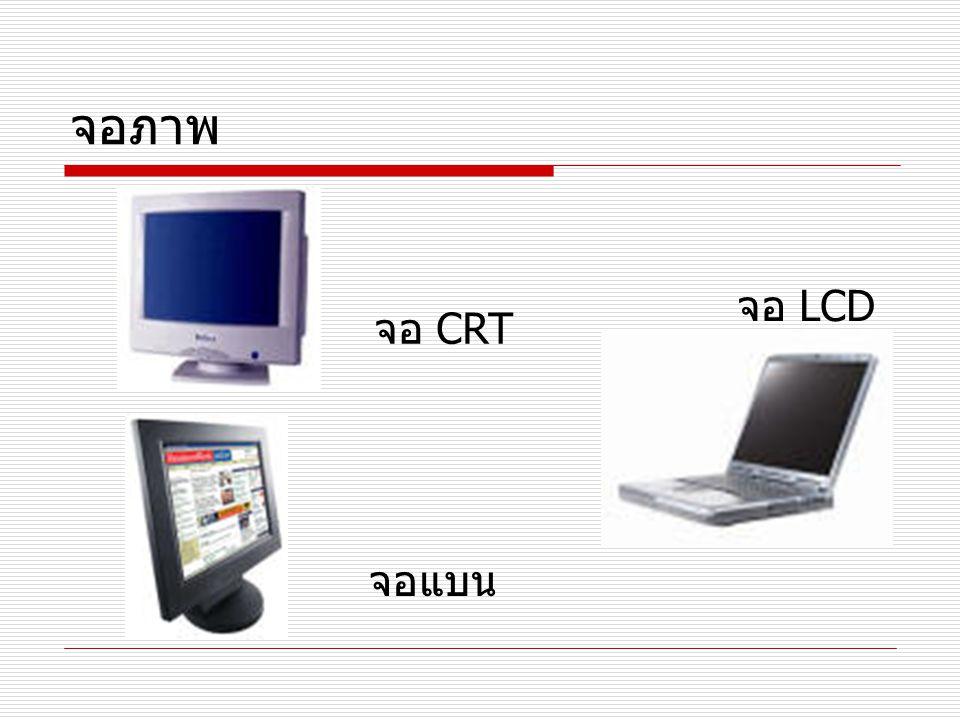 จอภาพ จอ CRT จอแบน จอ LCD