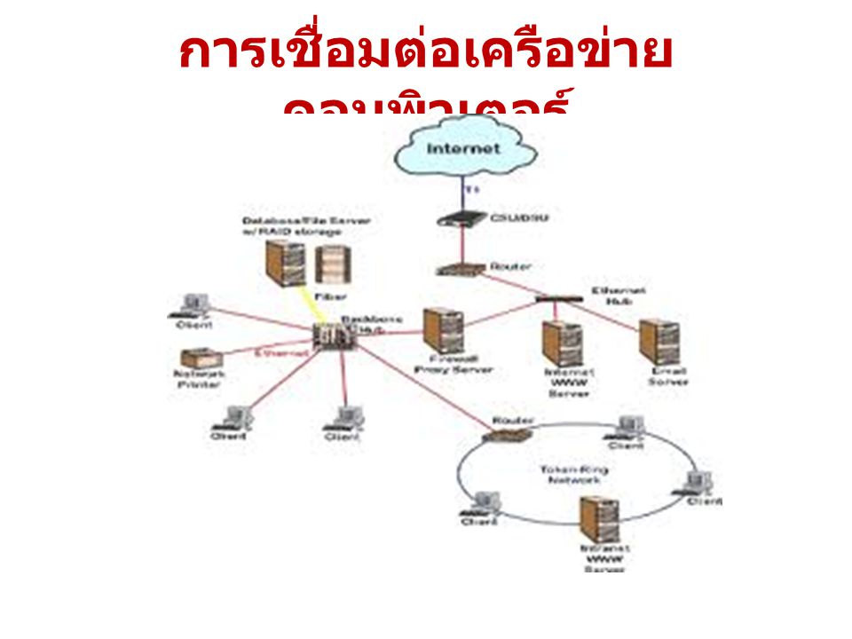 การเชื่อมต่อเครือข่าย คอมพิวเตอร์