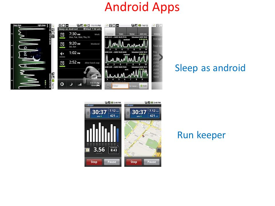 Sleep as android Run keeper Android Apps
