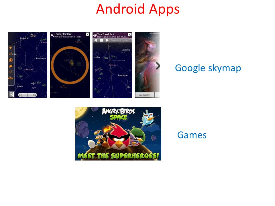 Google skymap Games
