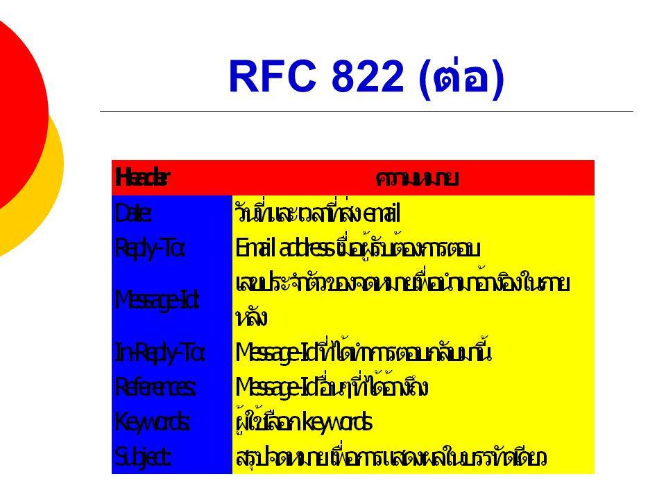 RFC 822 ( ต่อ )