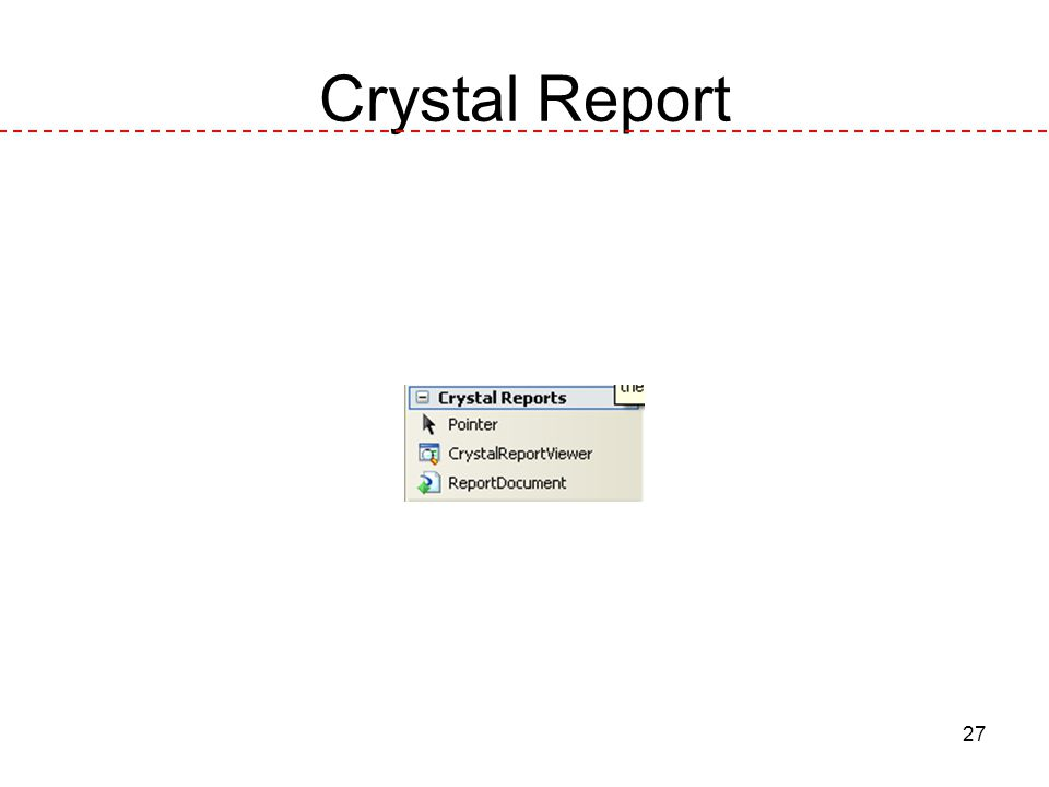 27 Crystal Report