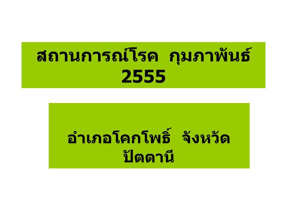 สถานการณ์โรค กุมภาพันธ์ 2555 อำเภอโคกโพธิ์ จังหวัด ปัตตานี