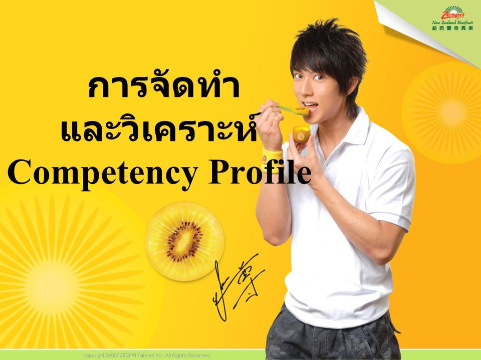 การจัดทำ และวิเคราะห์ Competency Profile