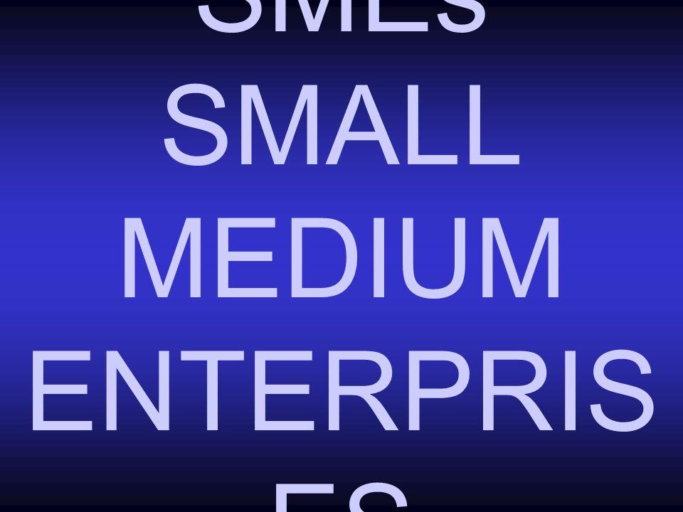 SMEs SMALL MEDIUM ENTERPRIS ES