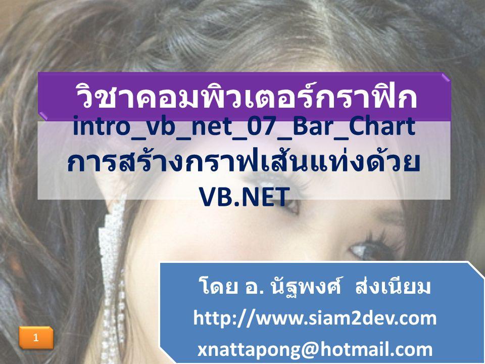 intro_vb_net_07_Bar_Chart การสร้างกราฟเส้นแท่งด้วย VB.NET โดย อ.