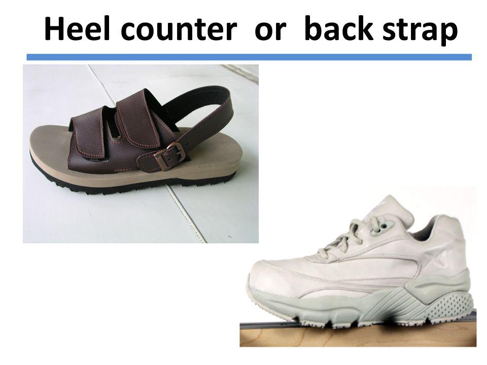 Heel counter or back strap