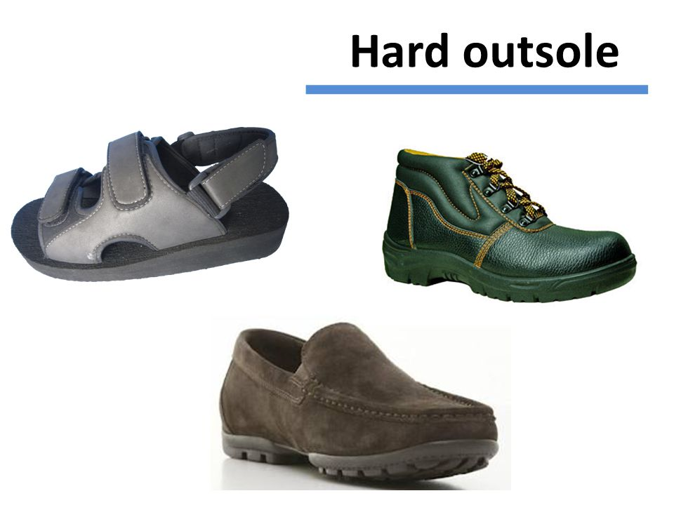 Hard outsole