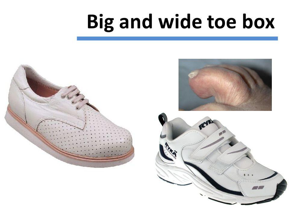 Big and wide toe box