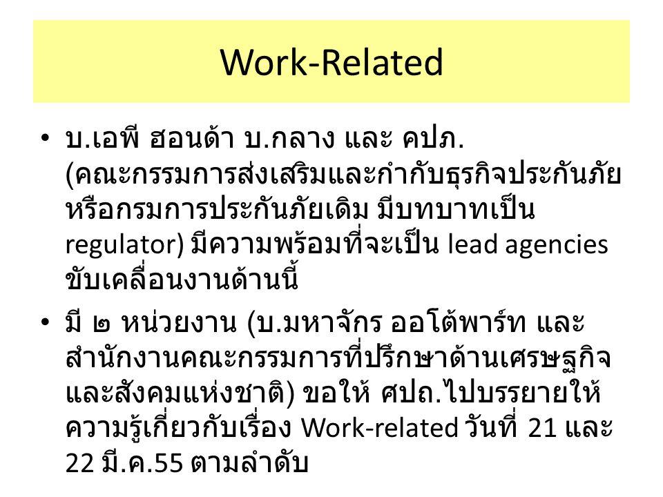Work-Related บ. เอพี ฮอนด้า บ. กลาง และ คปภ.