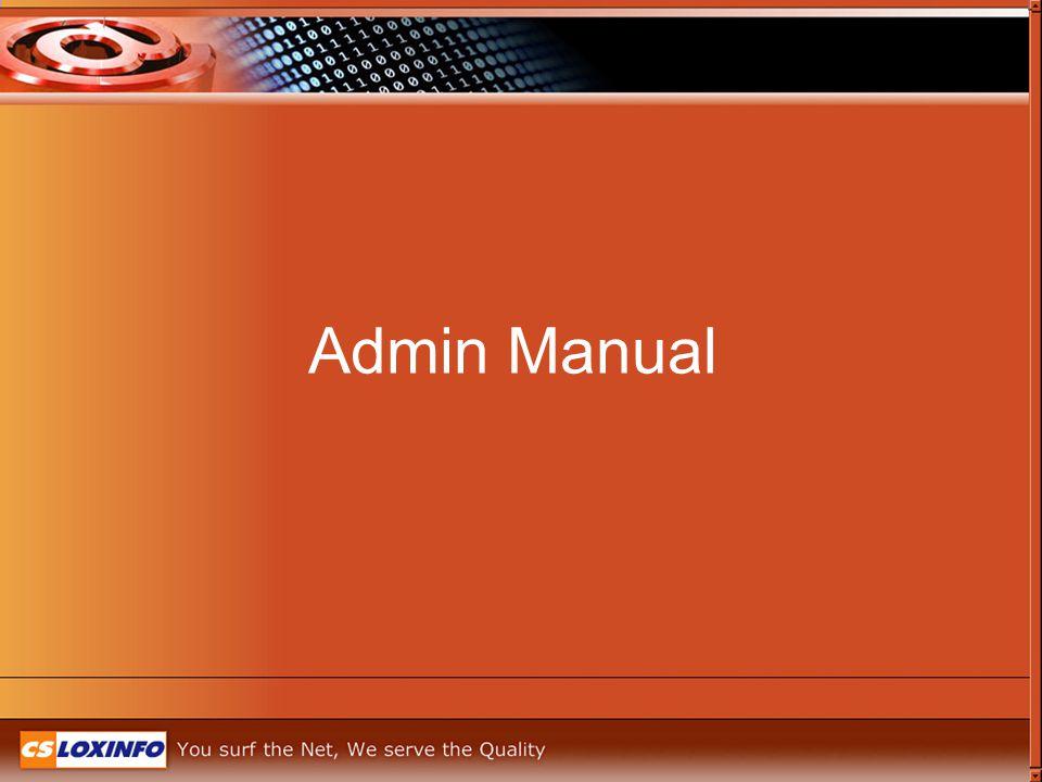 Admin Manual