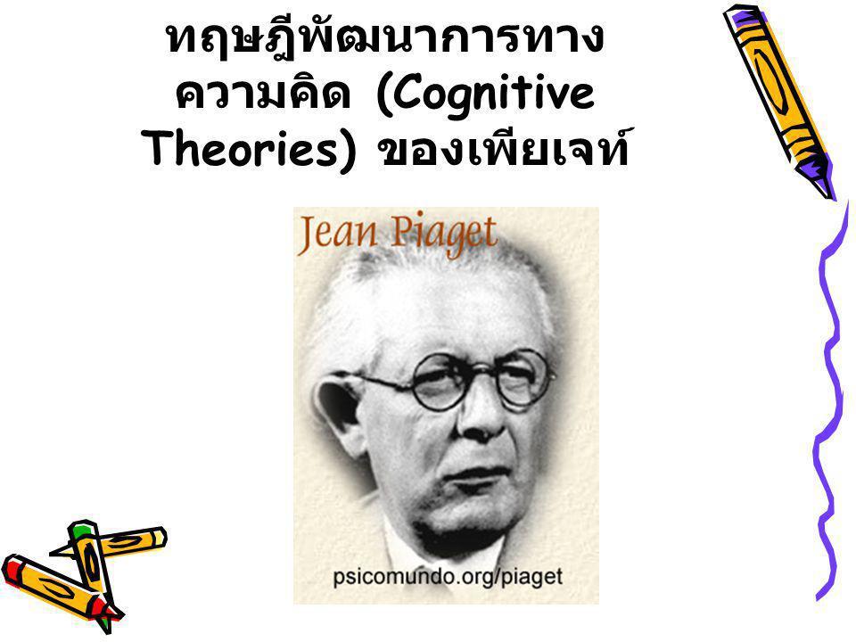 ทฤษฎีพัฒนาการทาง ความคิด (Cognitive Theories) ของเพียเจท์
