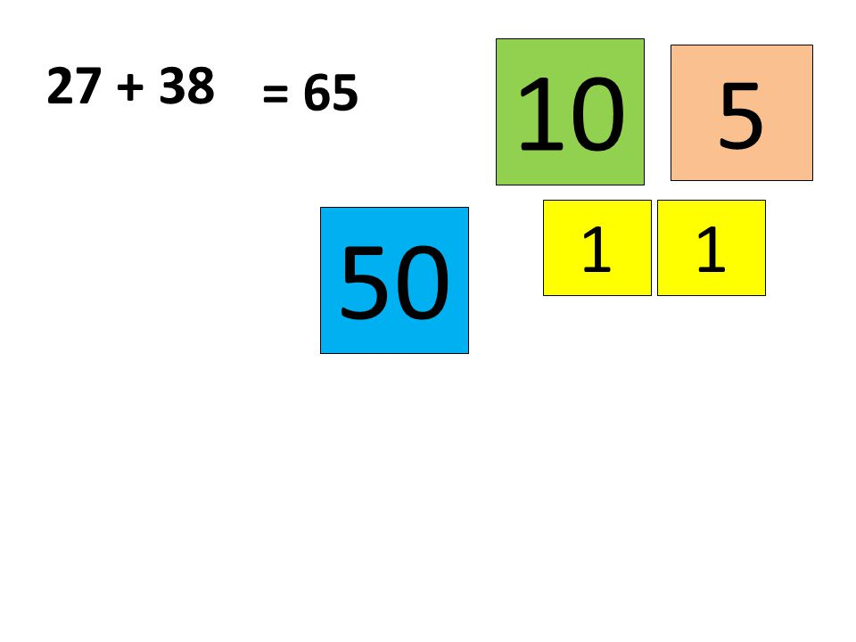 5 11 27 + 38 50 = 65