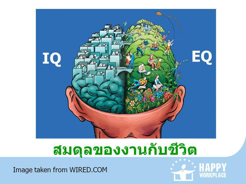 สมดุลของงานกับชีวิต IQ EQ Image taken from WIRED.COM