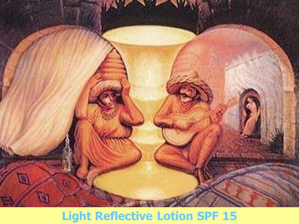 ผลิตภัณฑ์ 2 คุณค่าในหนึ่งเดียว ชนิดแรกของ อาร์ทิสทรี สีสัน คุณประโยชน์ที่สัมผัสได้ ในทันที + ถนอมผิว คุณประโยชน์ในระยะยาว Light Reflective Lotion SPF 15
