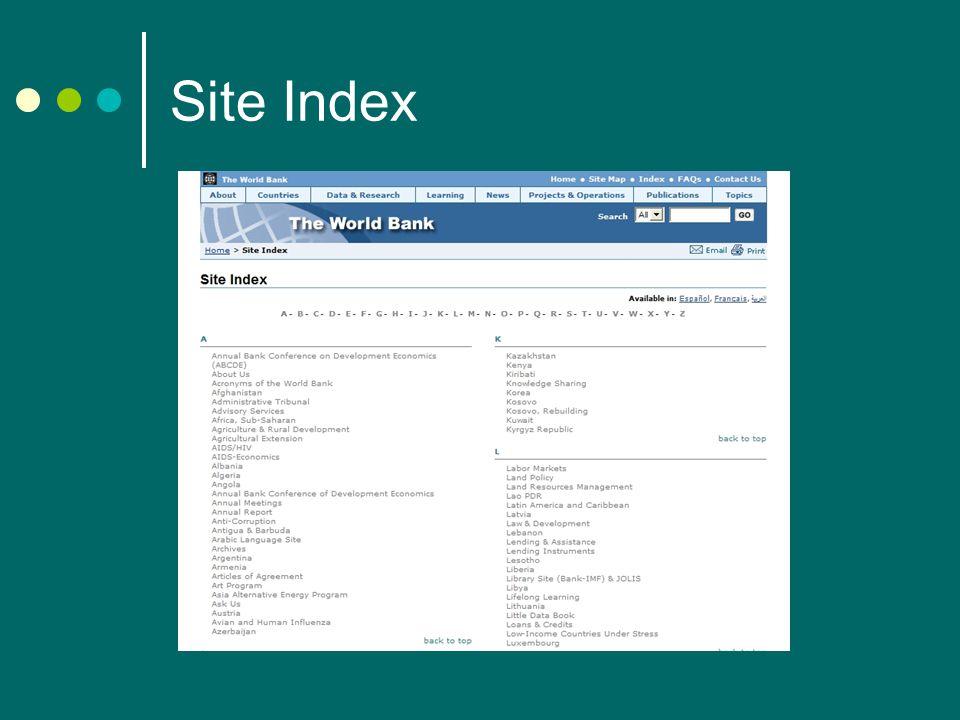 Site Index