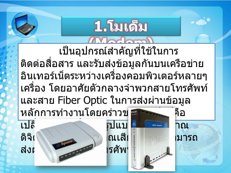 การ์ดแลนเป็นอุปกรณ์ที่ใช้สำหรับ รับส่งข้อมูลจากเครื่องคอมพิวเตอร์เครื่องหนึ่ง ไปยังอีกเครื่องหนึ่ง หรือไปยังอุปกรณ์อื่นๆ ใน ระบบเครือข่าย ดังนั้นคอมพิวเตอร์ทุกเครื่องก็ จะต้องมีการ์ดแลนเป็นส่วนประกอบสำคัญอีก อย่างหนึ่ง และโดยเฉพาะการเชื่อมต่อ อินเตอร์เน็ต ตามบ้าน มักจะใช้การ์ดแลนเป็น ตัวเชื่อมต่อ
