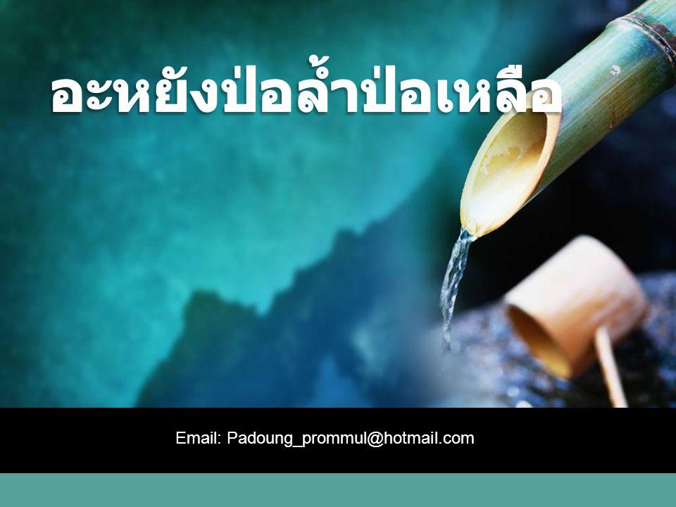 LOGO Email: Padoung_prommul@hotmail.com