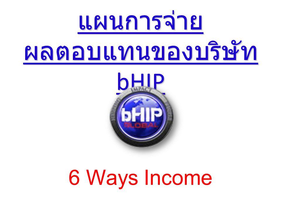 แผนการจ่าย ผลตอบแทนของบริษัท bHIP แผนการจ่าย ผลตอบแทนของบริษัท bHIP 6 Ways Income
