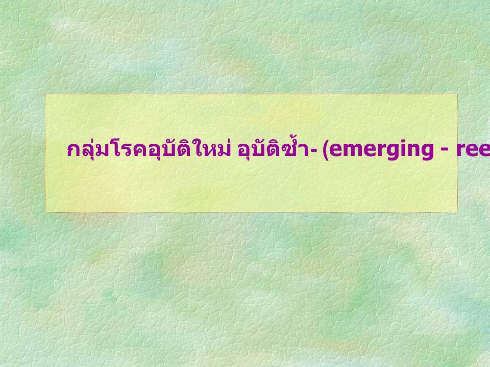 กลุ่มโรคอุบัติใหม่ อุบัติซ้ำ - (emerging - reemerging infection)