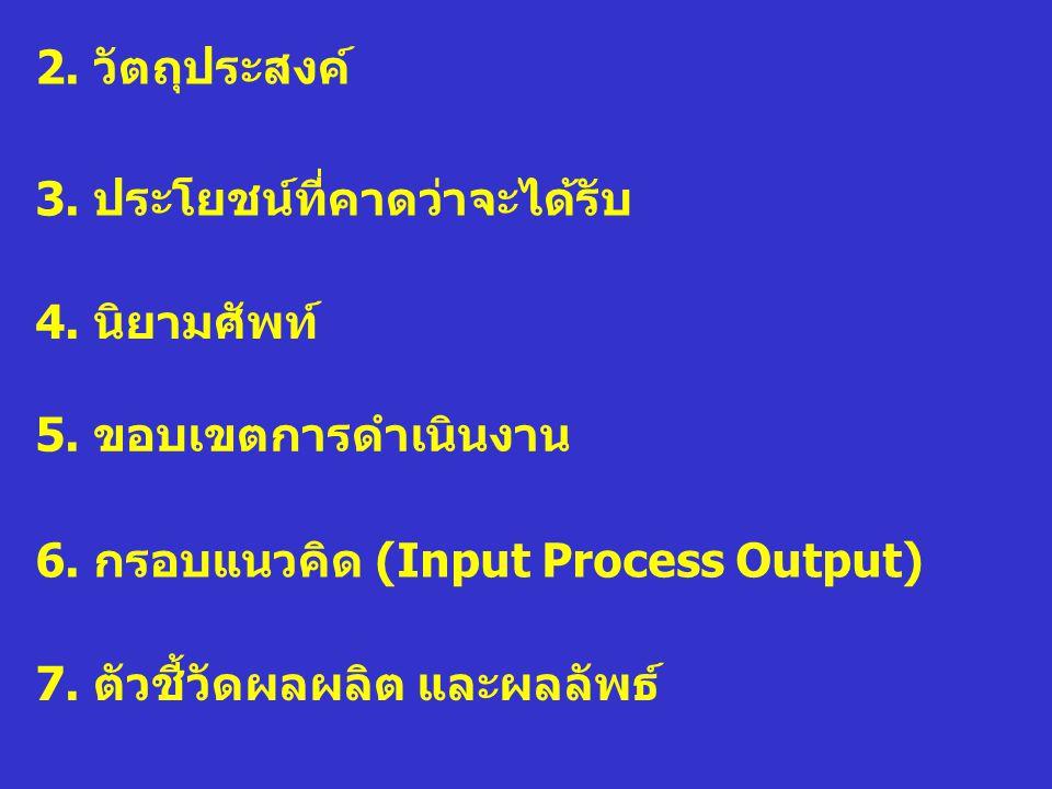 8.ระยะเวลา 10. แผนปฏิบัติการ 9. ขั้นตอนการดำเนินงาน 11.