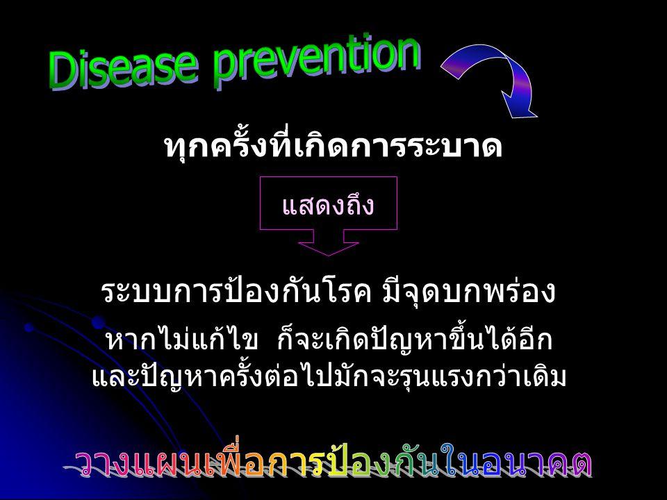 ระบบการป้องกันโรค มีจุดบกพร่อง หากไม่แก้ไข ก็จะเกิดปัญหาขึ้นได้อีก และปัญหาครั้งต่อไปมักจะรุนแรงกว่าเดิม ทุกครั้งที่เกิดการระบาด แสดงถึง