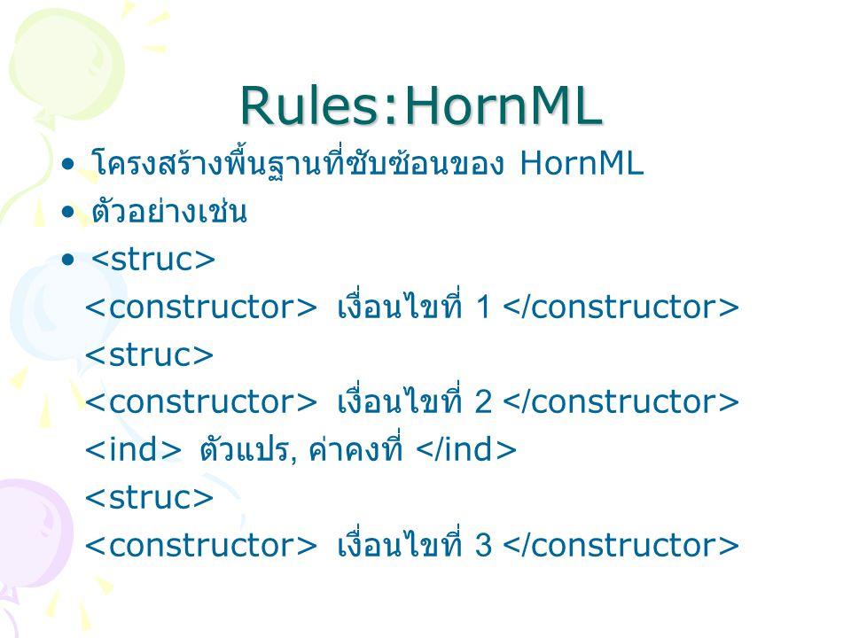 Rules:HornML ตัวแปร, ค่าคงที่