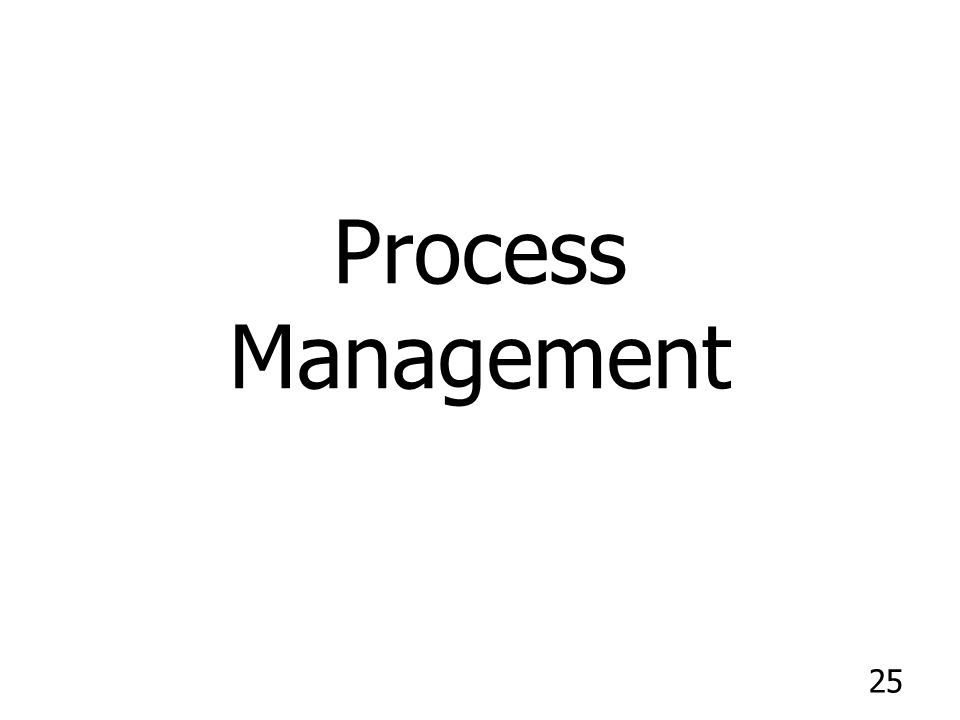 25 Process Management
