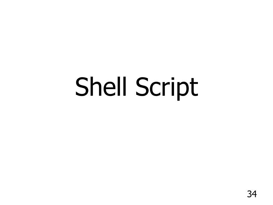 34 Shell Script