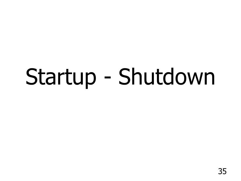 35 Startup - Shutdown