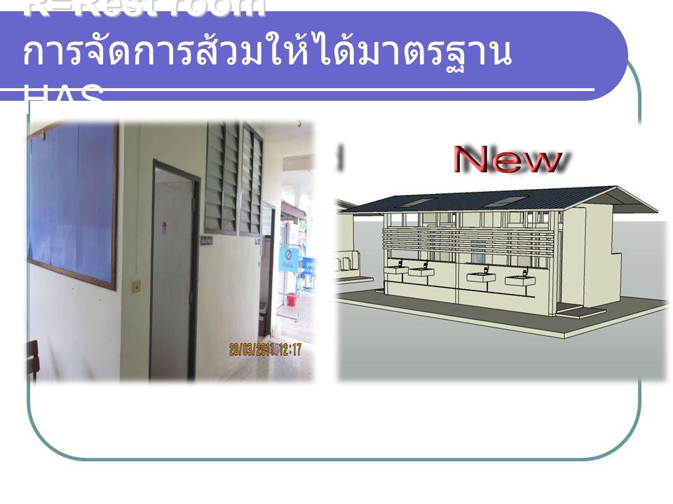 R=Rest room R=Rest room การจัดการส้วมให้ได้มาตรฐาน HAS