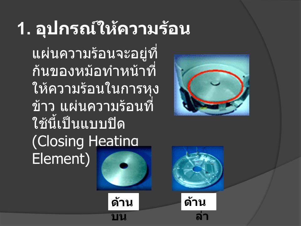 แผ่นความร้อนหม้อหุงข้าวมี 2 แบบ คือ 1.