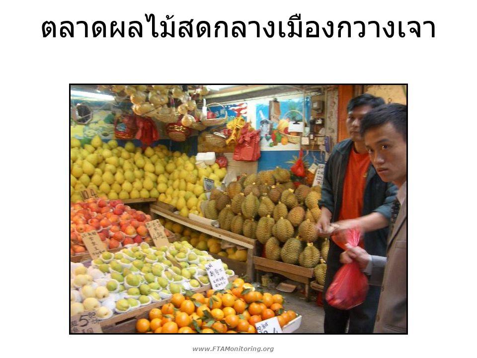 ตลาดผลไม้สดกลางเมืองกวางเจา www.FTAMonitoring.org