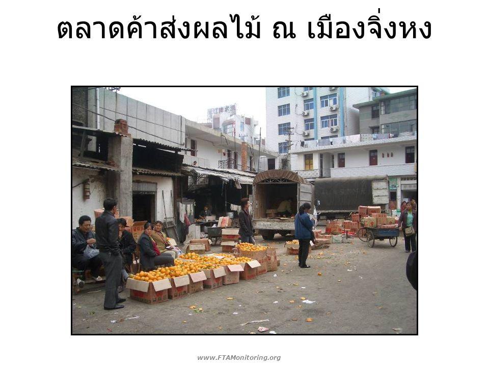 ตลาดค้าส่งผลไม้ ณ เมืองจิ่งหง www.FTAMonitoring.org