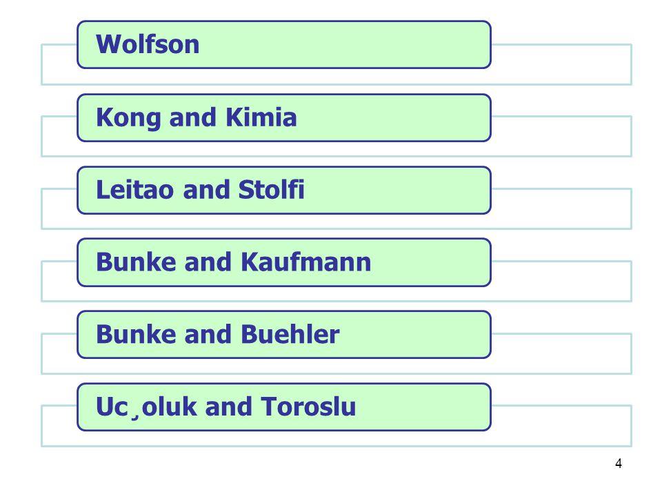 4 WolfsonKong and KimiaLeitao and StolfiBunke and KaufmannBunke and BuehlerUc¸oluk and Toroslu