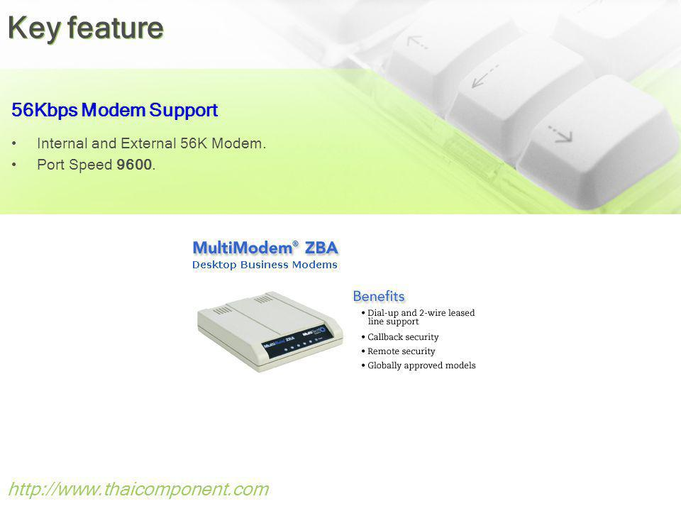 http://www.thaicomponent.com 56Kbps Modem Support Internal and External 56K Modem.