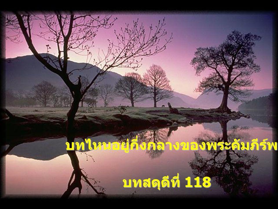 บทที่ยาวที่สุดในพระคัมภีร์ คือบทไหน ? บทสดุดีที่ 119