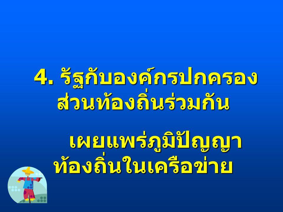4.รัฐกับองค์กรปกครอง ส่วนท้องถิ่นร่วมกัน 4.