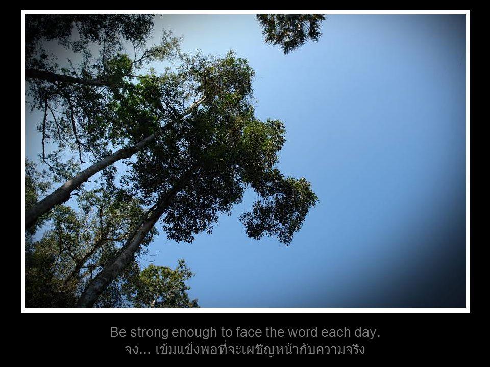 Be strong enough to face the word each day. จง... เข้มแข็งพอที่จะเผชิญหน้ากับความจริง