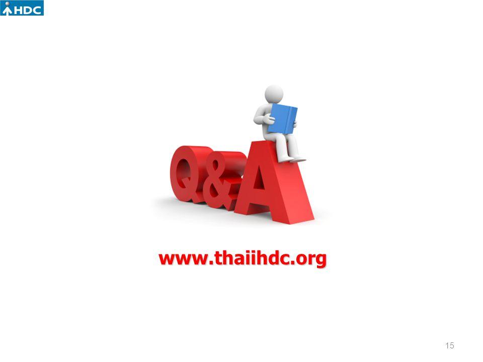 www.thaiihdc.org 15