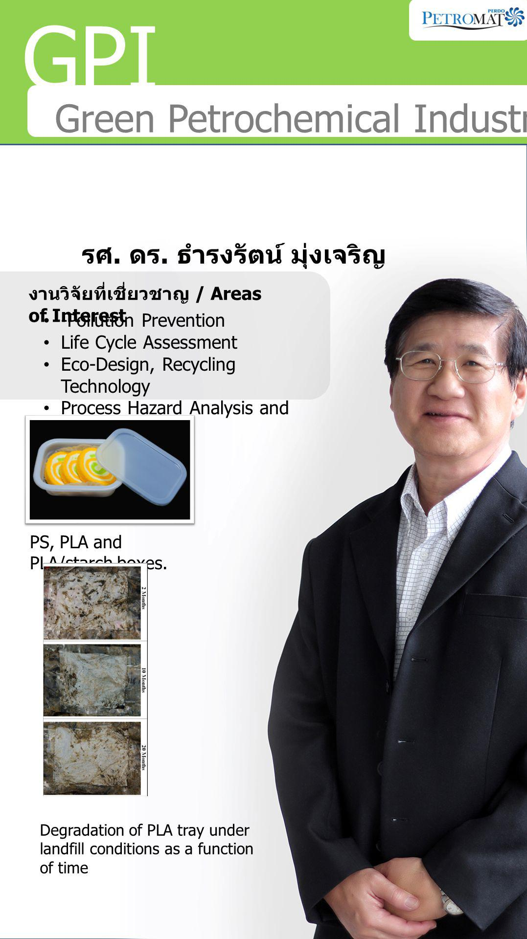 GPI Green Petrochemical Industries รศ. ดร.