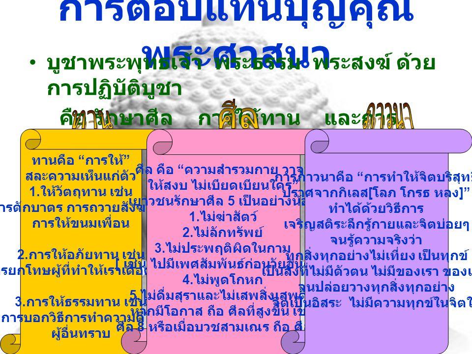 ระลึกถึงบุญคุณพระมหากษัตริย์ ทุกพระองค์ที่ทรงกอบกู้อิสรภาพ และปกครองประเทศไทยด้วย ความสงบ ร่มเย็น ทำตามพระบรมราโชวาทที่ พระองค์ทรงสั่งสอนพวกเราชาว ไทย การตอบแทนบุญคุณ พระมหากษัตริย์