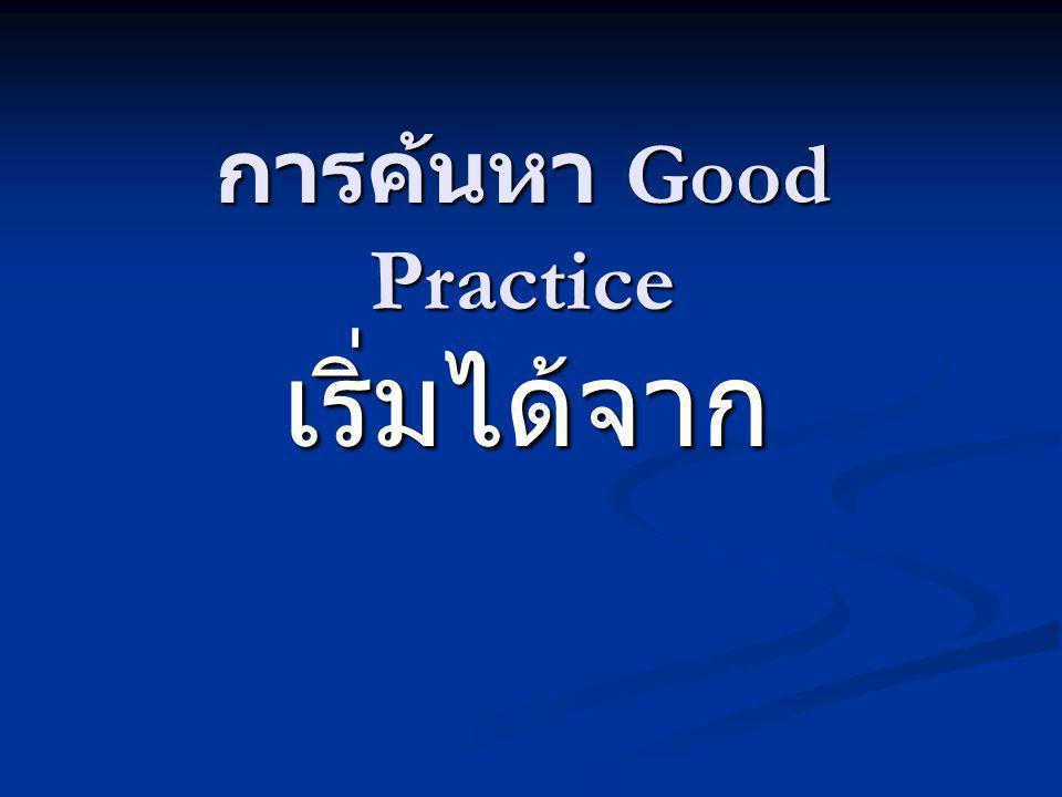 1.วิธีปฏิบัติ (Practices) ในการทำงานของ เราเป็นอย่างไร 2.