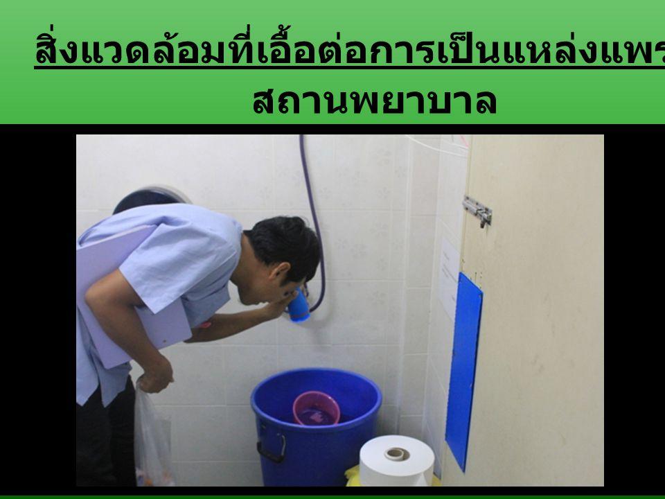สถานพยาบาล สิ่งแวดล้อมที่เอื้อต่อการเป็นแหล่งแพร่พันธุ์ลูกน้ำยุงลาย
