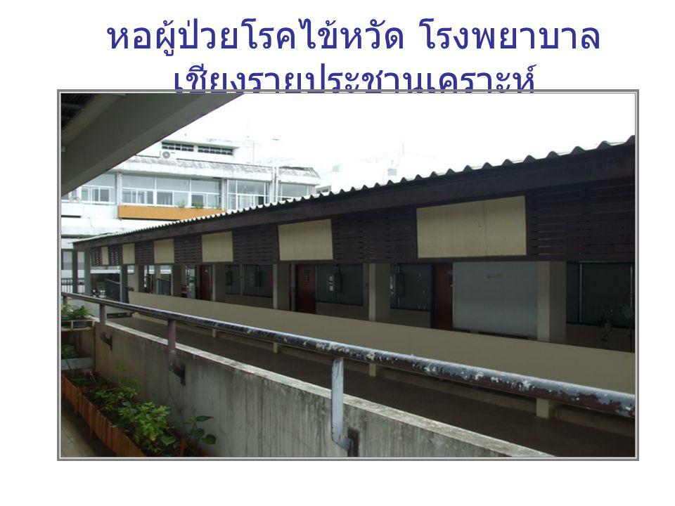 หอผู้ป่วยโรคไข้หวัด โรงพยาบาล เชียงรายประชานุเคราะห์