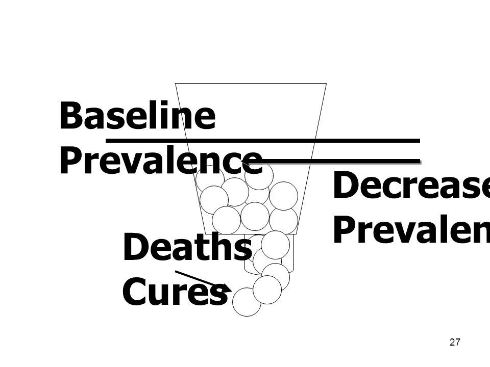27 Deaths Cures Baseline Prevalence Decreased Prevalence