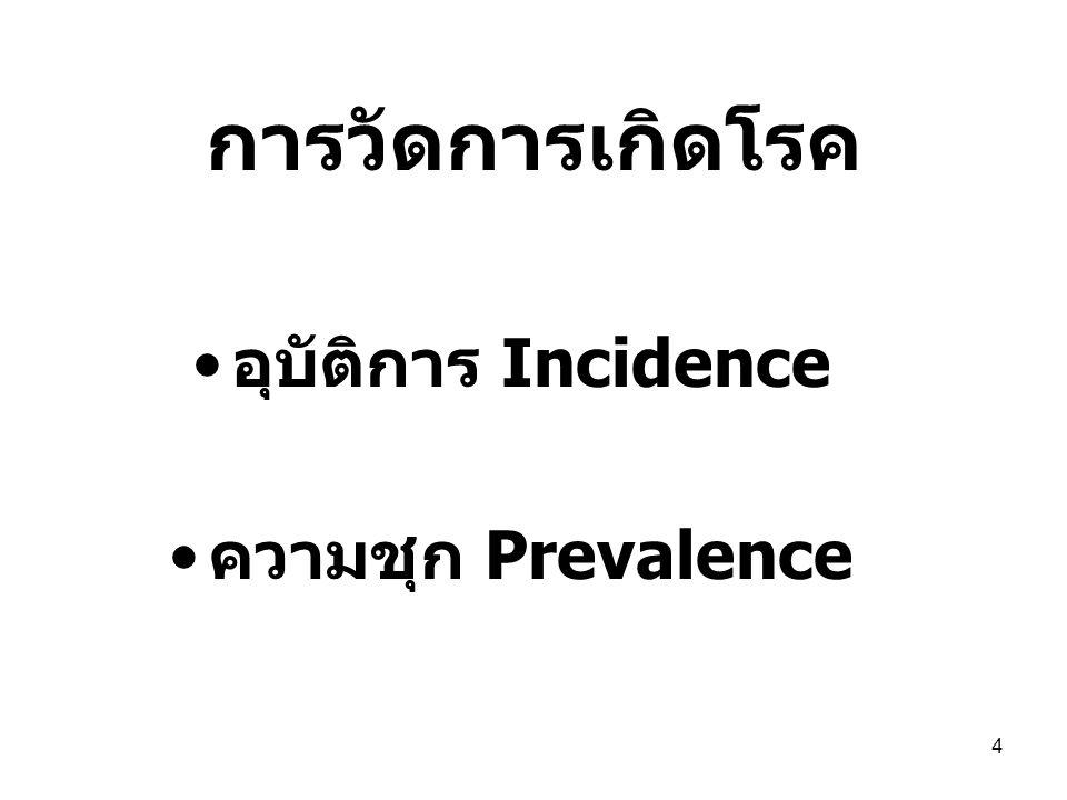 5 การวัดการ เกิดโรค