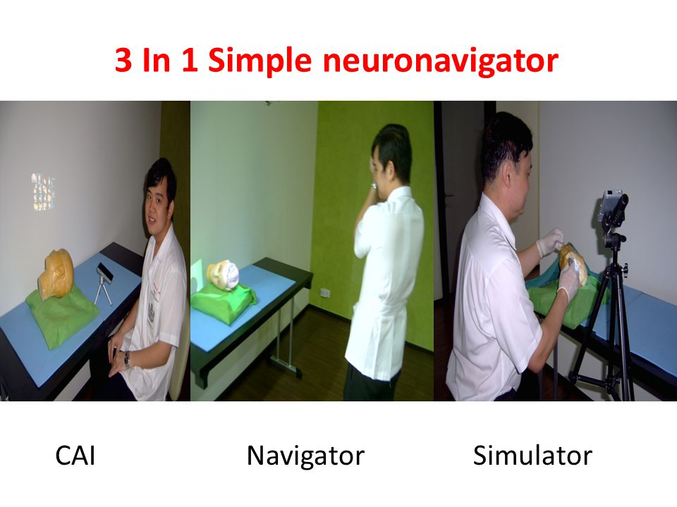3 In 1 Simple neuronavigator CAI Navigator Simulator
